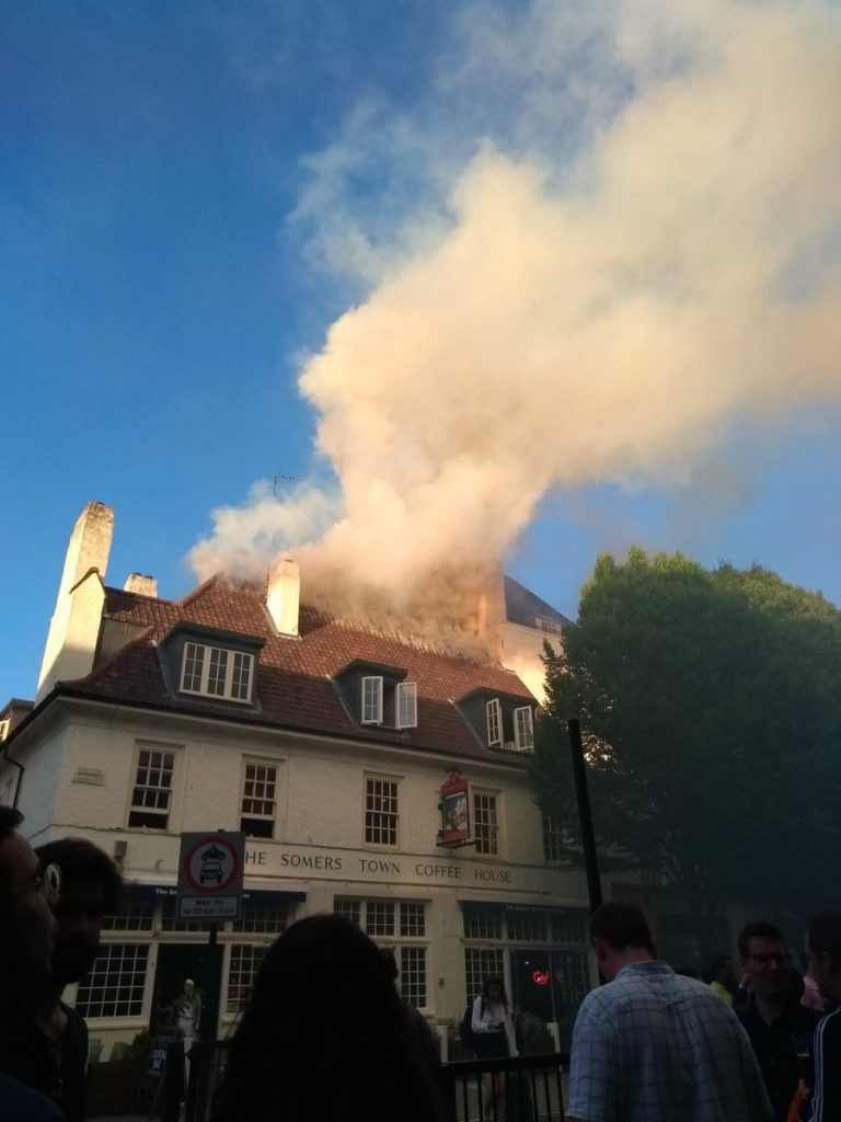 Another Fire in London- this time a local pub…….
